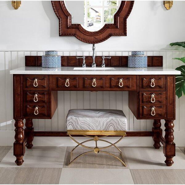 Elizabella 60 Single Aged Cognac Bathroom Vanity Set by Astoria Grand