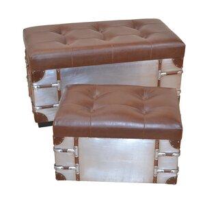 2-tlg. Sitztruhen-Set von dCor design