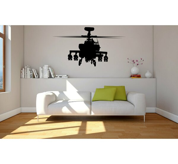 Apache Attack Helicopter Wall Decal by Zoomie Kids