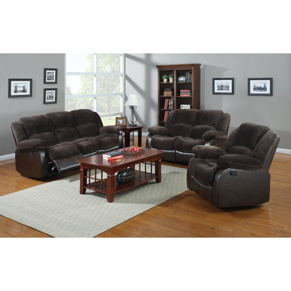 Perrysburg Reclining 3 Piece Living Room Set by Winston Porter