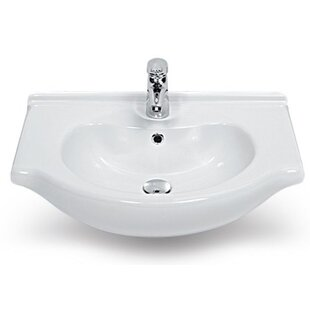 Find the perfect Nil Ceramic 17 Wall Mount Bathroom Sink with Overflow ByCeraStyle by Nameeks