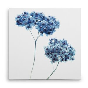 'Gorgeous Blue Ill' Oil Painting Print on Wrapped Canvas by Ivy Bronx