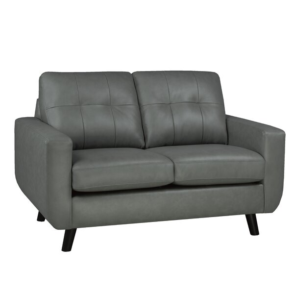 Lathrop Genuine Leather Loveseat By Brayden Studio Purchase