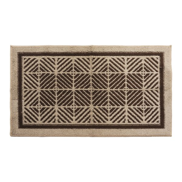 Brown/Cream Area Rug by Attraction Design Home