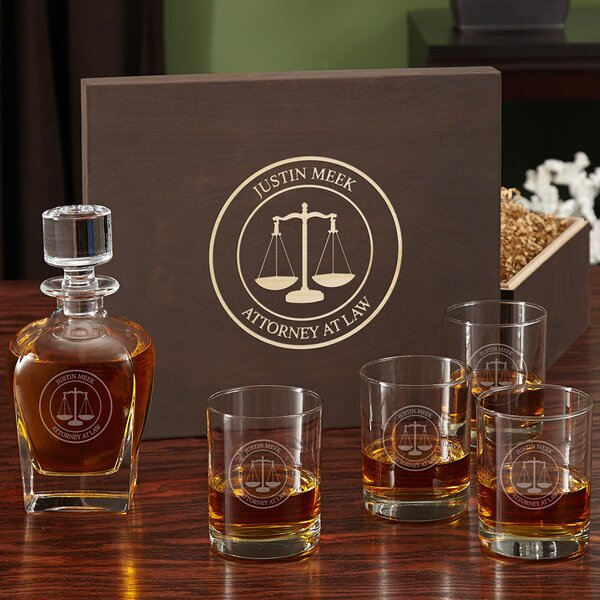 Scales of Justice Custom 5 Piece Beverage Serving Set by Home Wet Bar
