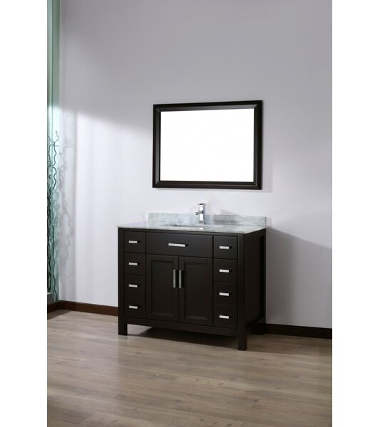 Klimek 42 Single Bathroom Vanity Set with Mirror by Orren Ellis