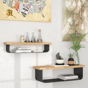 Cosima 2 Piece Wall Shelf Set