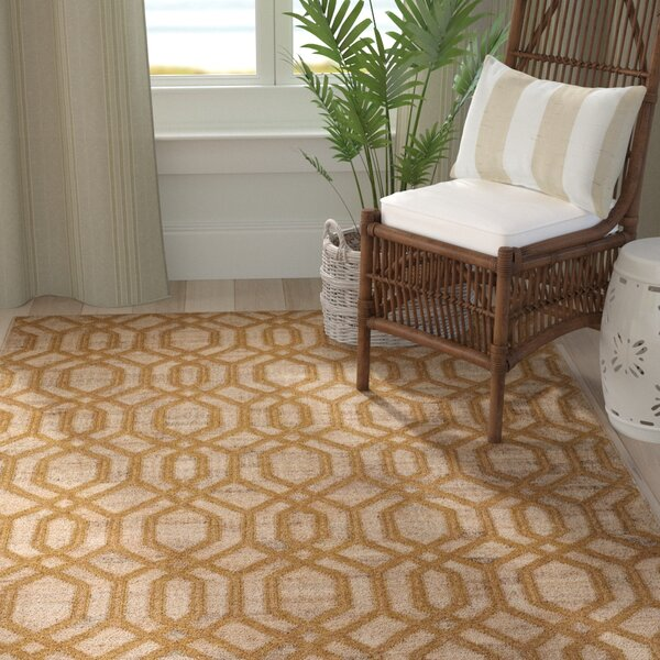 Cheyney Hand Woven Beige/Brown Area Rug by Highland Dunes
