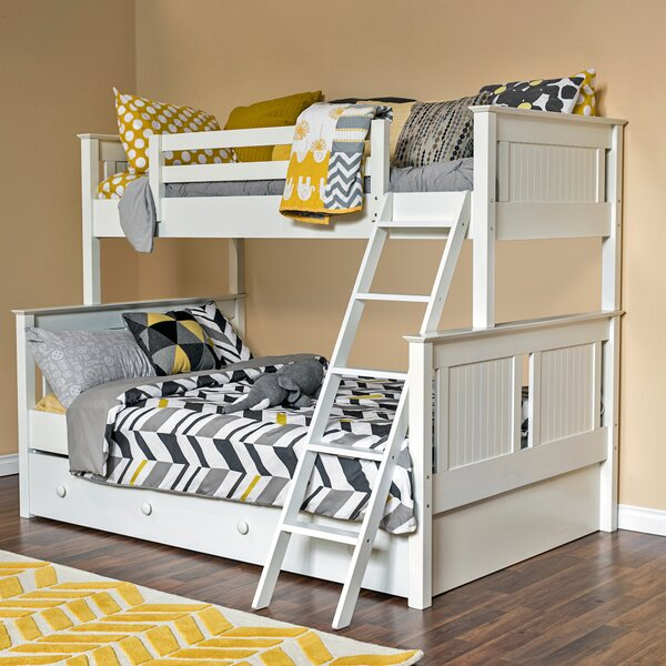 Edick Twin Over Full Bunk Bed with Trundle by Harriet Bee