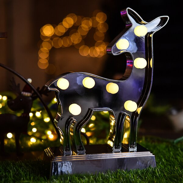 Marquee Light with Deer Shape 9 Table Lamp by Festival Depot