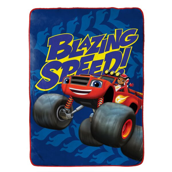 Fast Track Nickelodeon Blaze Fleece Blanket by Disney