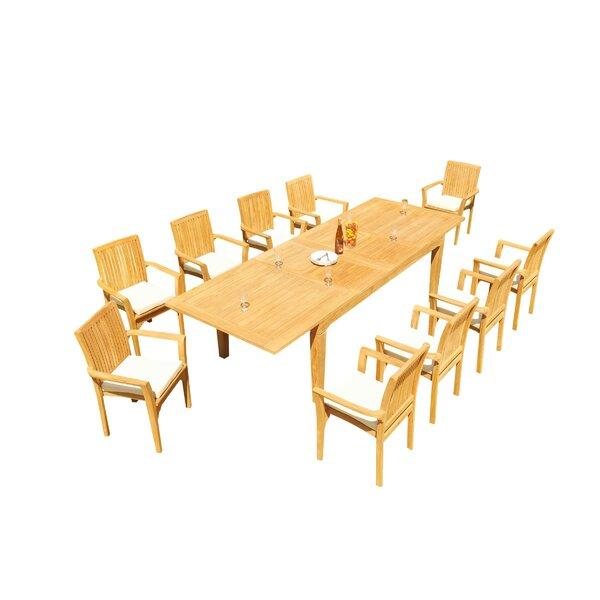 Matamoros 11 Piece Teak Dining Set