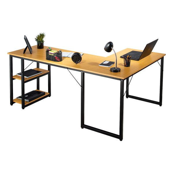 Caine Office L Shaped Computer Desk by Symple Stuff