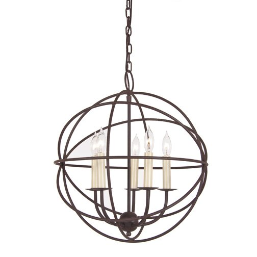 Politte 5-Light Unique / Statement Globe Chandelier By Breakwater Bay