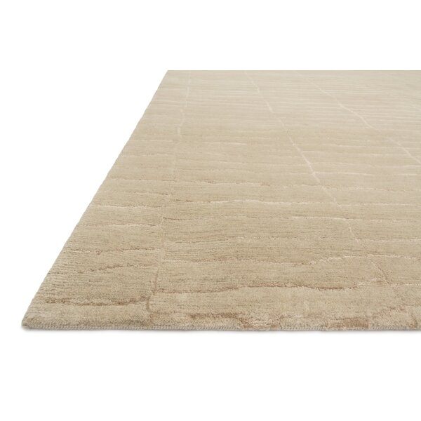 Albinson Hand-Knotted Almond Area Rug by Loon Peak
