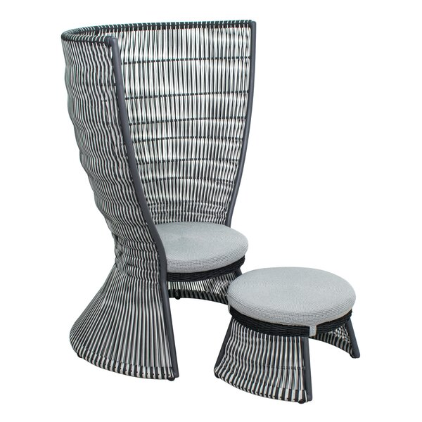 Archipelago NicoBar Patio Chair with Cushions and Ottoman by Seasonal Living