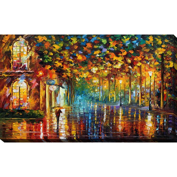 Late Stroll 2 by Leonid Afremov Painting Print on Wrapped Canvas by Picture Perfect International