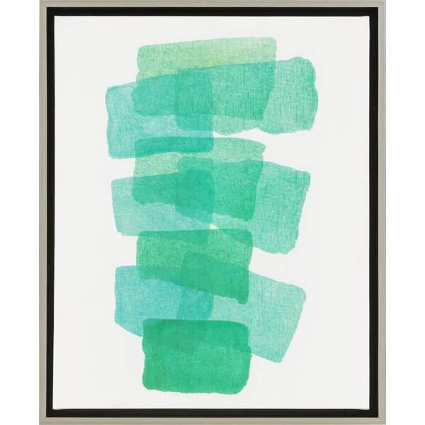Framed Painting Print on Canvas in Green by Langley Street