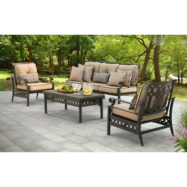 Derry 4 Piece Sofa Set with Cushions by Darby Home Co