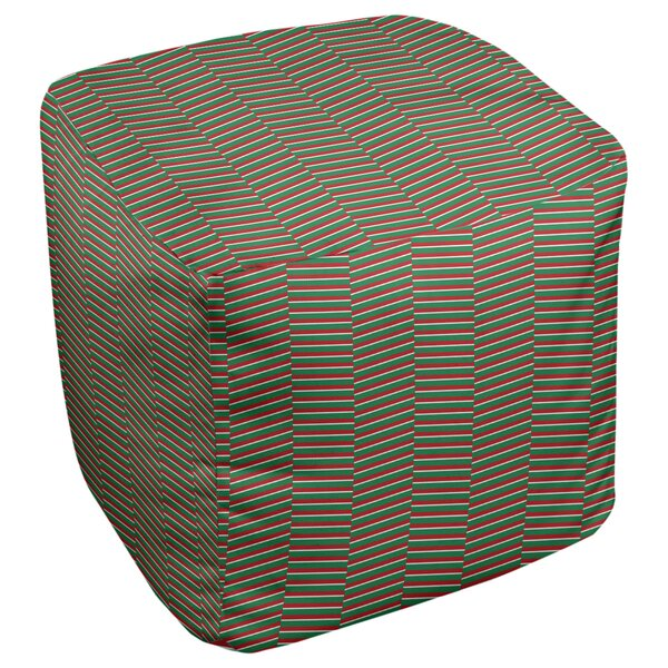 Festive Hol Fractured Pouf By East Urban Home