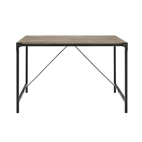 Madeline Angle Iron and Wood Dining Table by Laurel Foundry Modern Farmhouse