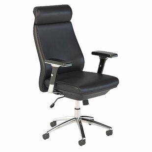 Bush Business Furniture Studio C High Back Leather Executive Office Chair in Black