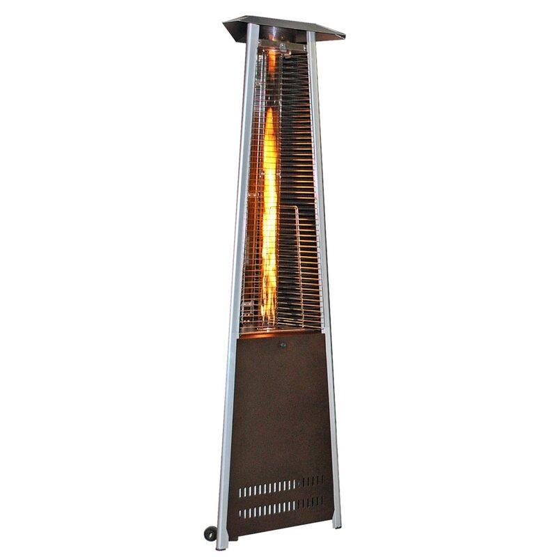 Contemporary Triangle Design Portable 40,000 BTU Propane Patio Heater