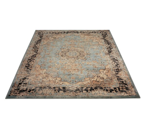 Saavedra Light Blue/Beige Area Rug by Bungalow Rose