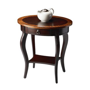Gulielma 1 Drawer Oval End Table