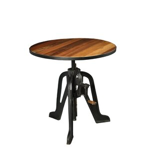 Mikaela Cafe To Bar Crank Adjustable Pub Table by 17 Stories