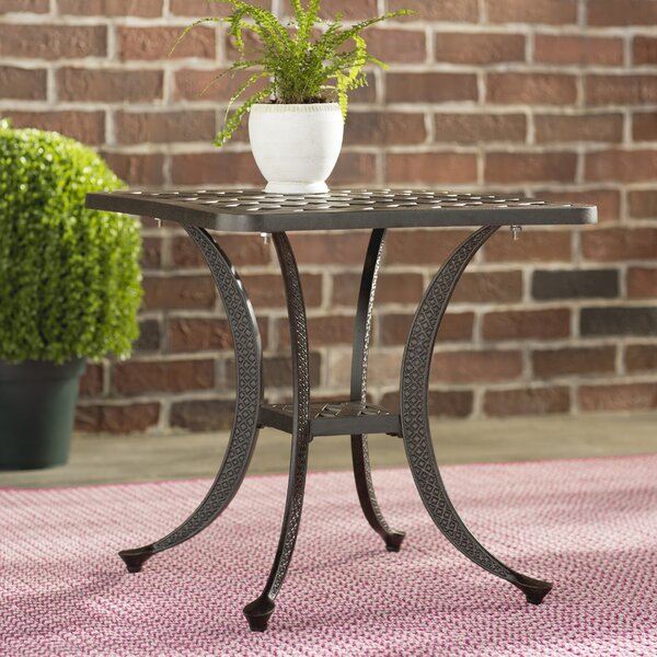 Palmview Metal Side Table by Fleur De Lis Living
