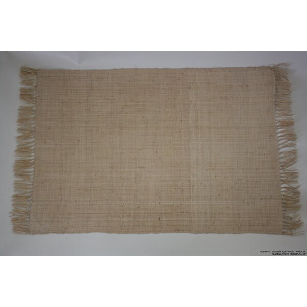 Natural Raffia Fringed Placemat (Set of 4) by Desti Design
