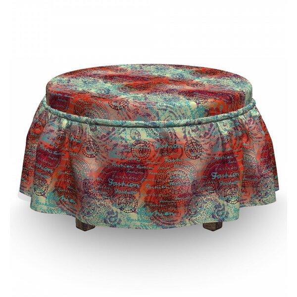 Home & Garden Box Cushion Ottoman Slipcover