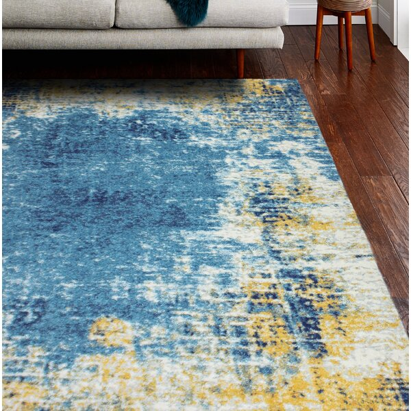 Reasor Blue/Yellow Area Rug by Wrought Studio