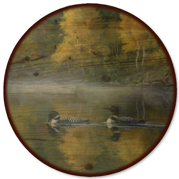 Autumn Morning Shoreline Lazy Susan by WGI-GALLERY