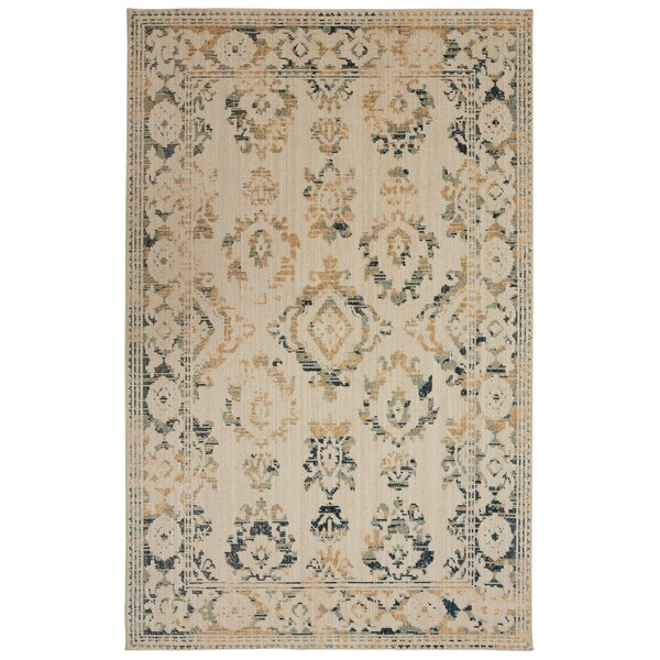 Kavya Aquamarine/Cream Area Rug by Bungalow Rose