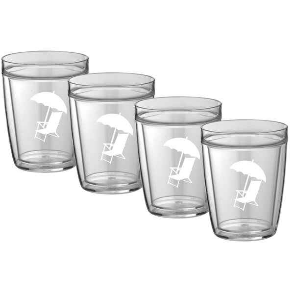 Highland Creek 14 oz. Plastic Every Day Glass (Set of 4) by Winston Porter
