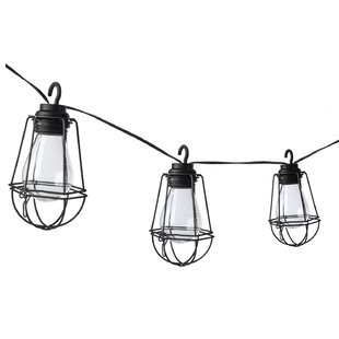 Reviews 10-Light 10.5 ft. Lantern String Lights with Metal Cages By Paradise Garden Lighting