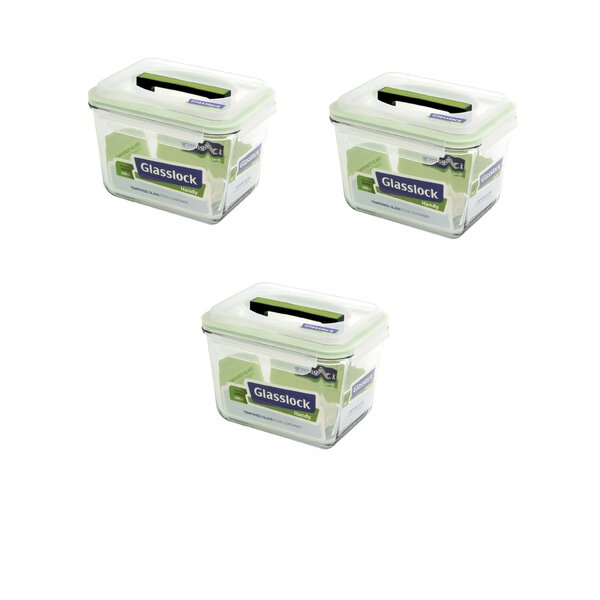 Handy 84 Oz. Food Storage Container (Set of 3) by Glasslock