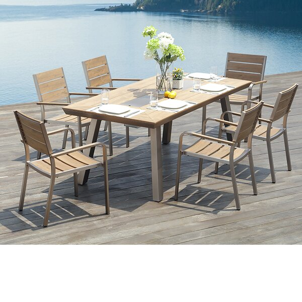 Pompano 7 Piece Dining Set by Ove Decors