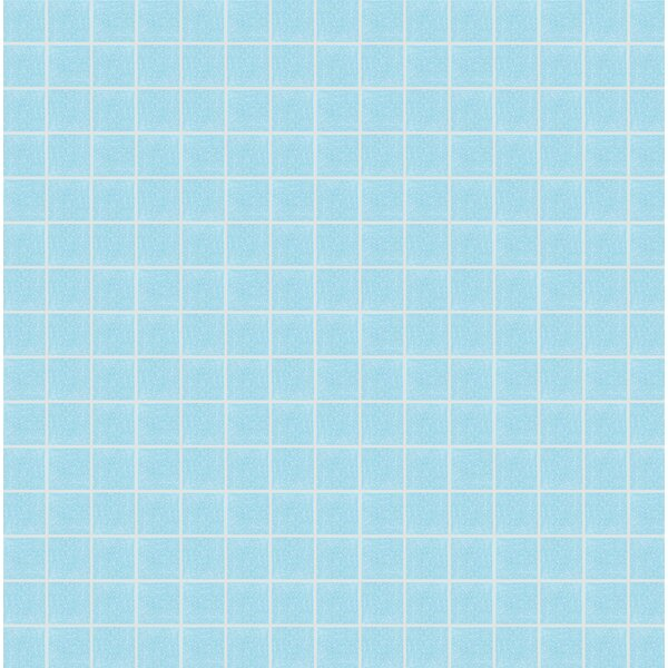 Opal 13 x 13 Glass Mosaic Tile in Semi-Gloss Blue by Mosaic Loft