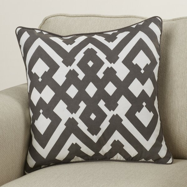 Belford Large Zig Zag Square Linen Throw Pillow by Zipcode Design