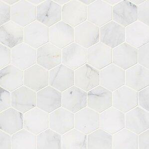 marble tile floor texture. Calacatta Cressa Hex Honed 2  x Marble Mosaic Tile Hexagonal You ll Love Wayfair