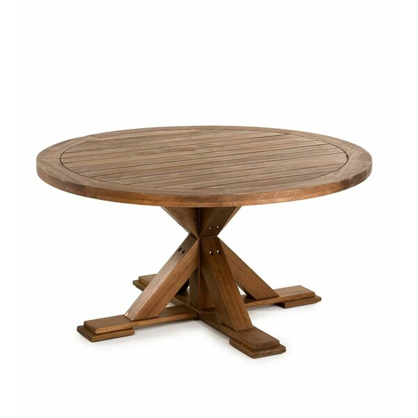 Claremont Eucalyptus Round Wooden Dining Table by Plow & Hearth