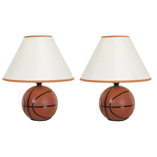 Ismay Basketball 12 Table Lamp (Set of 2) by Harriet Bee
