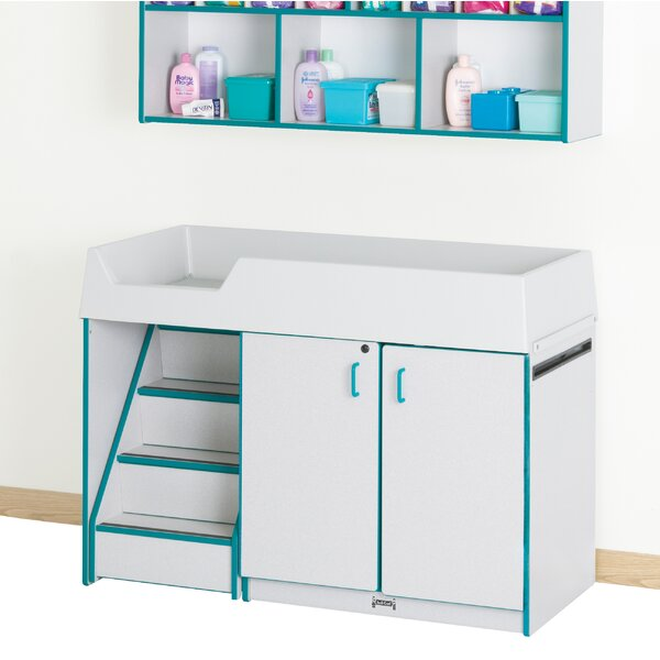 Rainbow Accents Wall Organizer Changing Table by Jonti-Craft