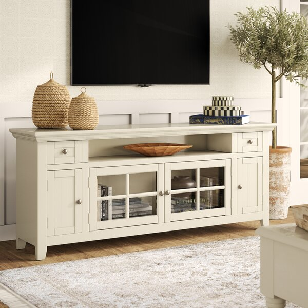 Mckinnon Solid Wood Entertainment Center For TVs Up To 70