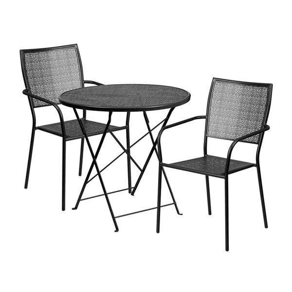 Speirs Outdoor Steel 3 Piece Dining Set by Winston Porter