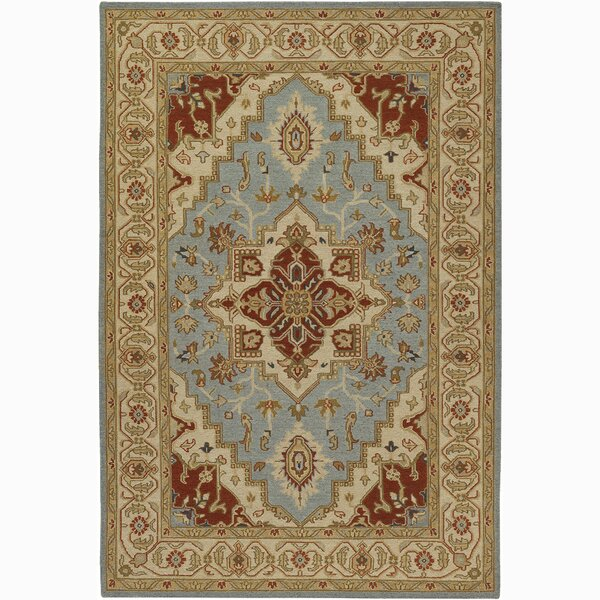 Bluffview Brown/Blue Area Rug by Astoria Grand
