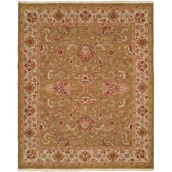 Weihai Hand-Woven Beige Area Rug by Meridian Rugmakers